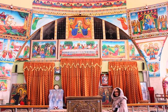 in an Ethiopian church