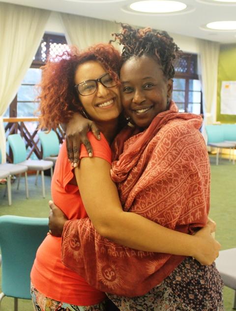 مع صديقتي إيمي مدافعة على حقوق الانسان
