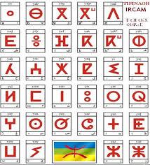 جدول للحروف الأمازيغية